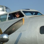 Mike Hoover in the right seat of B-17 Aluminum Overcast